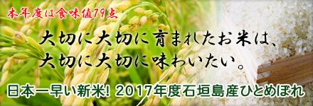 日本一早い新米入荷しました!2017年度新米